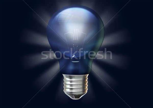 регулярный синий стилизованный Лучи изолированный Сток-фото © albund
