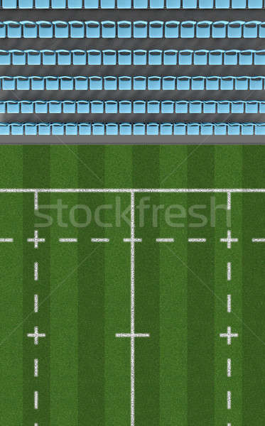 Rugby Stadium Top View Section Stock photo © albund
