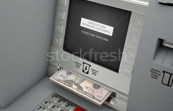 атм наличных общий фасад экране доллара Сток-фото © albund