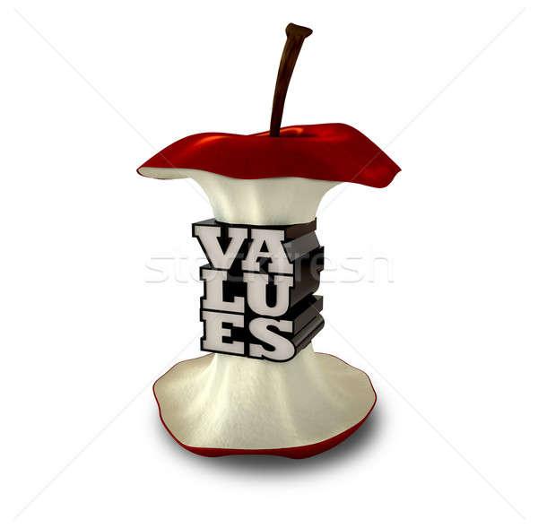 コア 価値観 リンゴ 極端な センター 文字 ストックフォト © albund