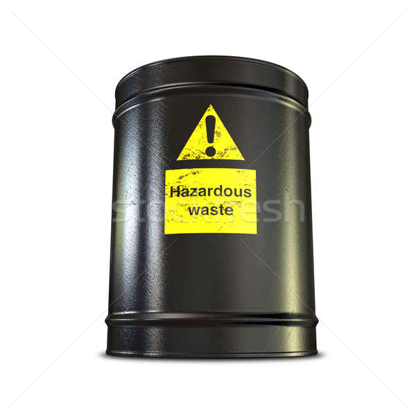 Hazardous Waste Barrel Stock photo © albund