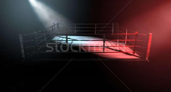 Boxing Ring Opposing Corners Stock photo © albund