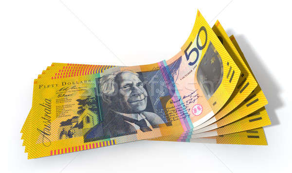 Australian Dollar Bank Notes Spread Stock photo © albund