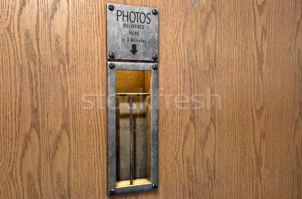Vintage Photo Booth Pickup Slot Stock photo © albund