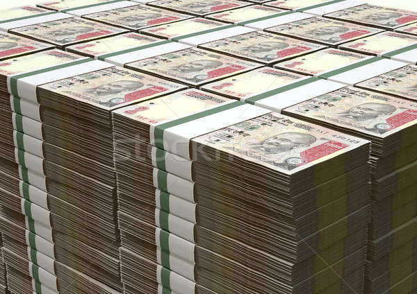 Rupee Notes Pile Stock photo © albund