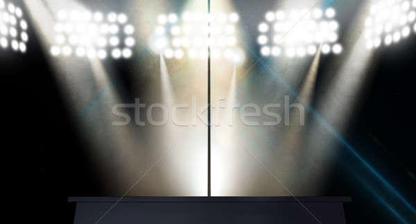 Afstrijker paal geïsoleerd fase licht Stockfoto © albund