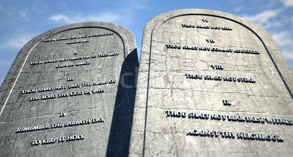 Ten Commandments Standing In The Desert Stock photo © albund