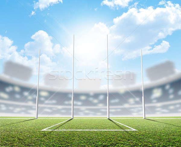 Sports Stadium And Goal Posts Stock photo © albund
