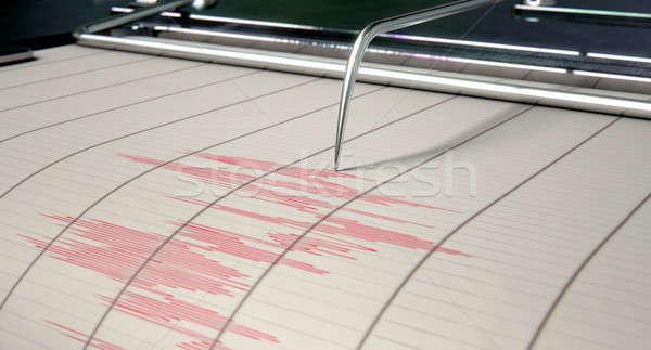 Aardbeving activiteit machine naald tekening Stockfoto © albund