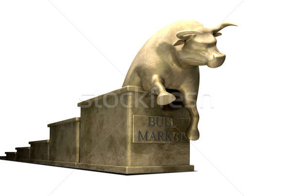 Bull Market Trend Cast In Gold Stock photo © albund
