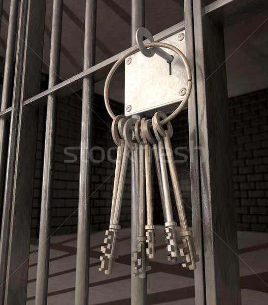 Cela fechado porta monte teclas Foto stock © albund
