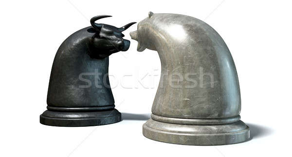 Bull And Bear Market Trend Chess Pieces Stock photo © albund