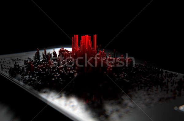 Stockfoto: Infectie · 3d · render · moderne · algemeen · scherm