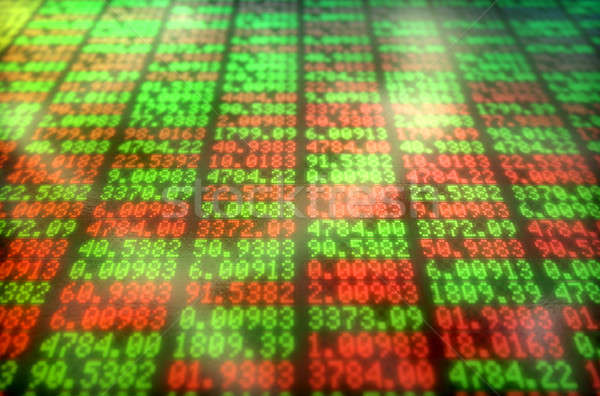 Mercado de ações digital conselho seção indicador Foto stock © albund