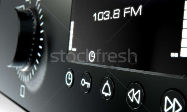 Modern Radio Face Stock photo © albund