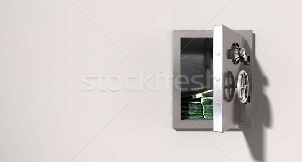Foto stock: Abrir · seguro · parede · australiano · dólares · metal