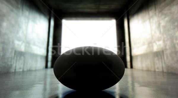 Rugby ball sportowe stadion tunelu wygląd Zdjęcia stock © albund