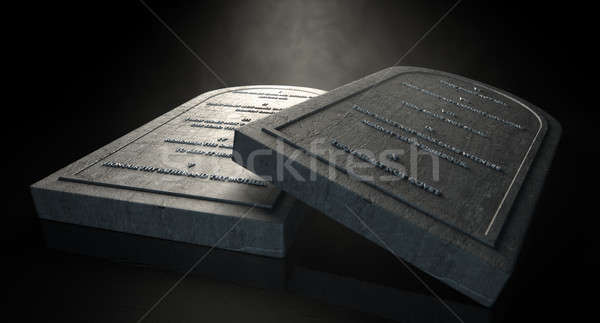 The Ten Commandments Stock photo © albund