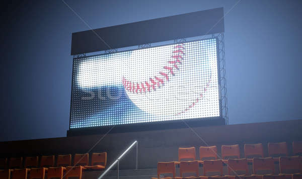 Sports Stadium Scoreboard Stock photo © albund