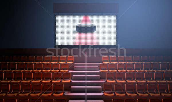 Deportes estadio marcador iluminado grande Screen Foto stock © albund