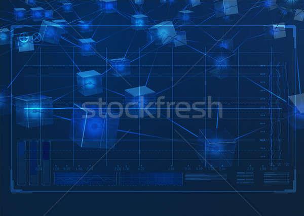 データ ネットワーク ブロック 技術 分析 ストックフォト © albund
