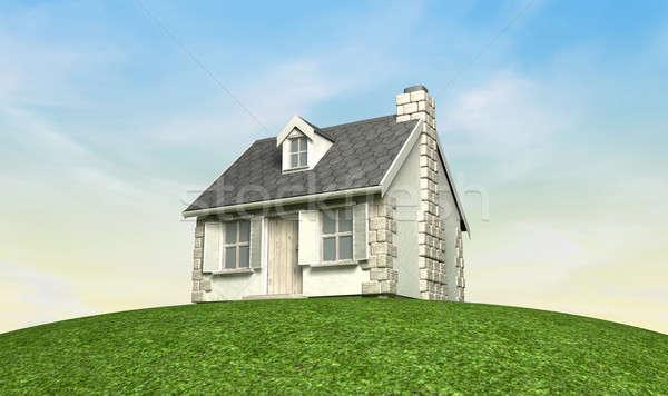 Cottage On A Hill Stock photo © albund