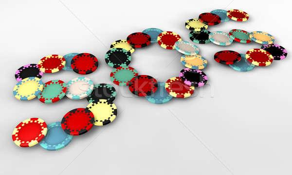 Stockfoto: Sos · casino · chips · perspectief · gekleurd · vorm · chips