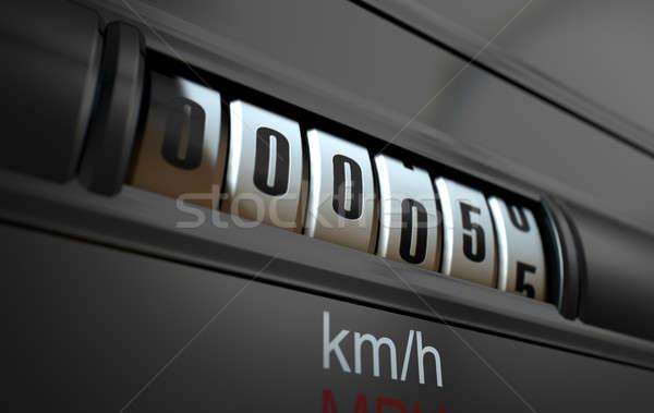 Stock photo: Car Odometer New
