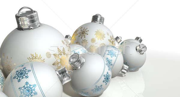 Mat witte christmas collectie Stockfoto © albund
