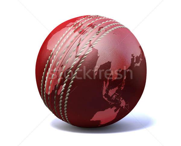 Cricket Ball World Map Stock photo © albund