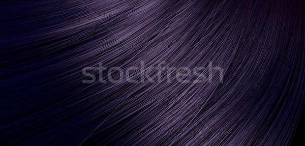 Stock photo: Hair Blowing Closeup