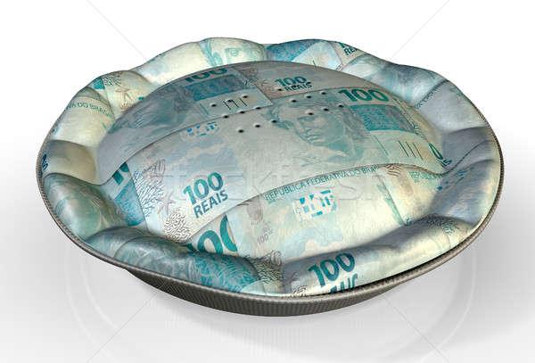Money Pie Brazilian Real Stock photo © albund