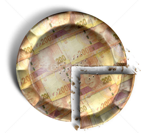 Slice Of South African Rand Money Pie Stock photo © albund