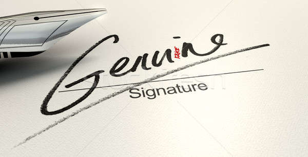 Genuine Fake Signature Stock photo © albund