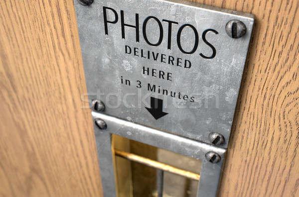 Bağbozumu fotoğraf kabin 3d render boş Stok fotoğraf © albund