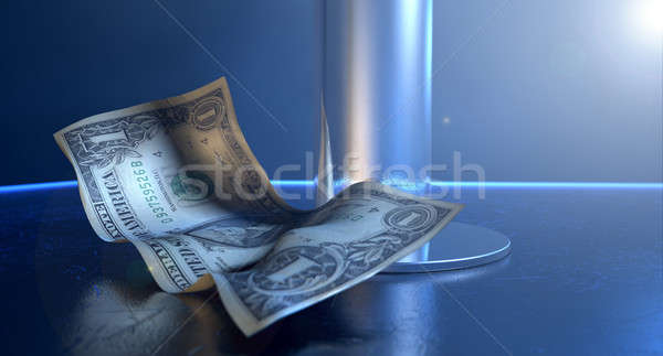 Afstrijker tips fase geïsoleerd paal spotlight Stockfoto © albund