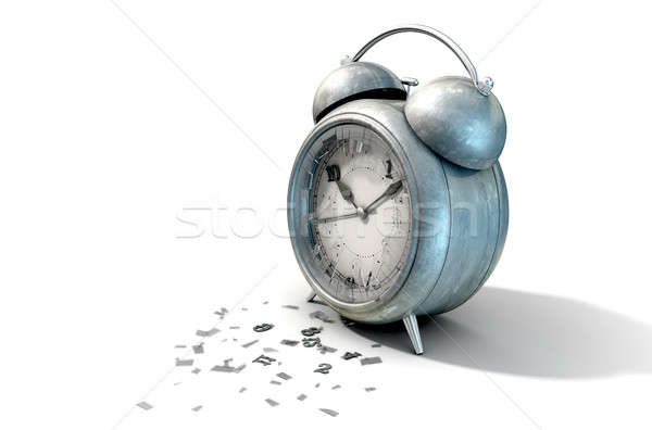 Table Clock Time Running Out Stock photo © albund
