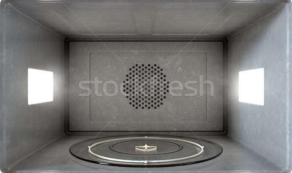 Mikró belső zárt kilátás bent háztartás Stock fotó © albund