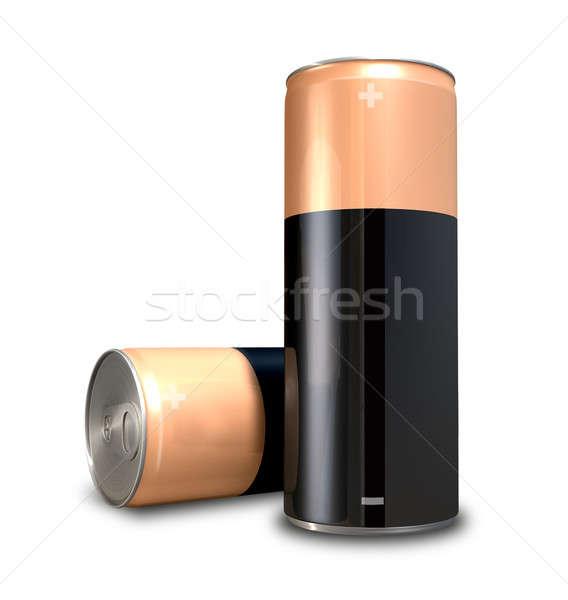 Konzerv elem energia energiaital alakú konzervdoboz Stock fotó © albund