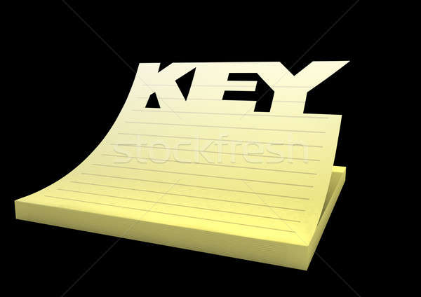 Keynote Pad Close Stock photo © albund
