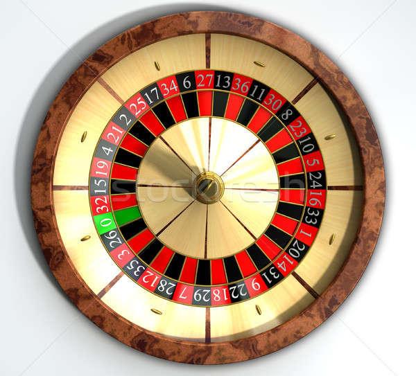 Rueda de la ruleta cerca superior regular madera rojo Foto stock © albund