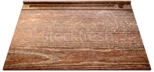 Vintage School Desk Top Perspective Stock photo © albund
