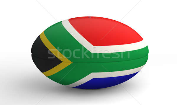 South African Rugby Ball On White Stock photo © albund