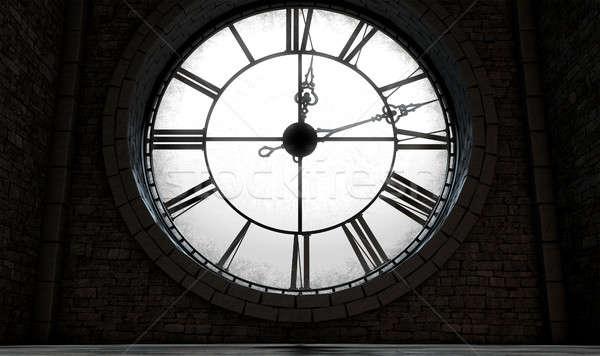 Antique Backlit Clock Stock photo © albund