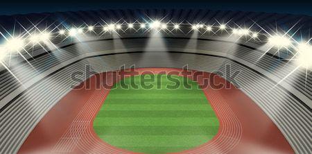 Generic Stadium Night Stock photo © albund
