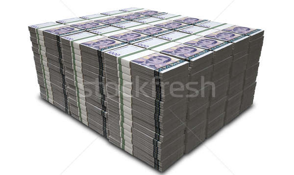 Norwegian Krone Notes Bundles Stack Stock photo © albund