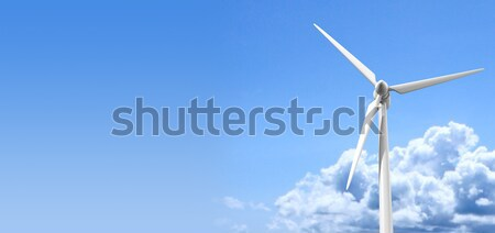 Wind Turbine Blue Sky Stock photo © albund