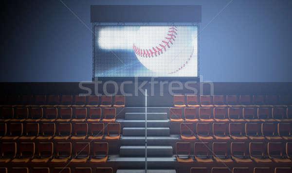 Spor stadyum sayı tahtası büyük ekran Stok fotoğraf © albund