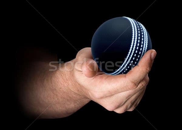 Mão críquete bola masculino futurista Foto stock © albund