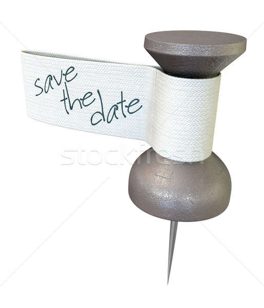 Save The Date Mteal Thumbtack Stock photo © albund